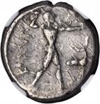 ITALY. Bruttium. Caulonia. AR Stater (8.03 gms), ca. 475-410 B.C.