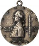 1889 Inaugural Centennial Badge by Saint-Gaudens. Silver. 35 mm. Musante GW-1136, Douglas-54. AU-50