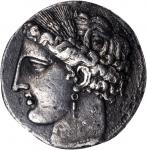 公元前264-241年西西里岛5德卡德拉克马 NGC Ancients Ch XF SICILY. Siculo-Punic