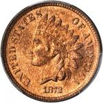 1872 Indian Cent. Bold N. MS-66 RB (PCGS).