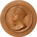 1777 B. Franklin American Plaque. Terracotta. 114 mm. By Nini. Greenslet GM-15, Betts-247. About Unc