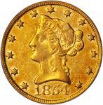 1854-O Liberty Head Eagle. Large Date. EF-40 (PCGS). CAC. OGH.