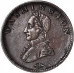 Undated (1815-1820) Washington Double Head Cent. Musante GW-110, Baker-6, W-11200. Rarity-1. Plain E