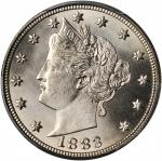 1883 Liberty Head Nickel. With CENTS. MS-66+ (PCGS). CAC.