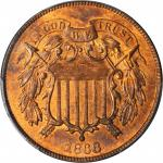 1868 Two-Cent Piece. MS-65 RD (PCGS).