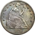 1870-CC Liberty Seated Silver Dollar. MS-63 (PCGS).