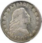1795 Flowing Hair Half Dollar. O-102, T-26. Rarity-4. Two Leaves. Fine-15 (PCGS).
