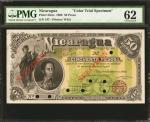 NICARAGUA. Republica de Nicaraqua. 50 Pesos, 15.9.1900. P-33cts. Color Trial Specimen. PMG Uncircula