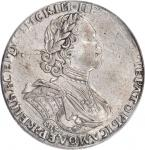 Sun Ruble, 1725-CNB. Peter I (The Great) (1689-1725). PCGS VF-35 Secure Holder.