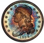 1834 Capped Bust Quarter. Browning-2. Rarity-7 as a Proof. Proof-67 CAM (PCGS).PCGS Population: 1, n
