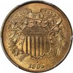1865 Two-Cent Piece. MS-66+ RB (PCGS). CAC.
