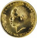 TANZANIA. 20 Senti, 1984. PCGS SPECIMEN-66 Gold Shield.