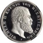 GERMANY. Wurttemberg. 2 Mark, 1913-F. NGC PROOF-64 CAMEO.