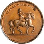1799 (ca. 1862) Equestrian Washington / Born, Died Medal. Copper. 29 mm. Musante GW-547, Baker-158A.