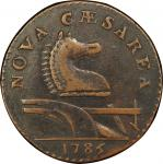 1786 New Jersey copper. Maris 15-J. Rarity-4. Straight Plow Beam. EF-45 (PCGS).