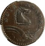 1786 New Jersey Copper. Maris 24-P, W-4965. Rarity-2. Curved Plow Beam. VF-35 (PCGS).