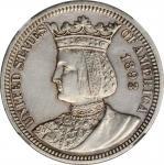 1893 Isabella Quarter. AU Details--Cleaned (NGC).