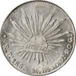 MEXICO. 8 Reales, 1883-Pi MH. San Luis Potosi Mint. NGC MS-64.