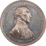 Circa 1816 Halliday medal. Musante GW-57, Baker-70. White Metal. Ornamented rims. SP-63 (PCGS).