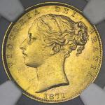 GREAT BRITAIN Victoria ヴィクトリア(1837~1901) Sovereign 1871 NGC-MS64 UNC+