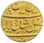 MYSORE: Haidar Ali, 1761-1782, AV mohur (10.96g), Bahadurpatan, AH119x year 15, KM-6, Henderson—, in