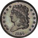 1834 Classic Head Half Cent. Cohen-1, Breen-1. Rarity-6 as a Proof. Proof-65 BN (PCGS).