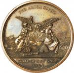 1865 New York State Volunteers Medal. Bronzed Copper. 37.4 mm. Julian MI-32, Vernon US-475. About Un