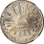 MEXICO. 8 Reales, 1836-Pi JS. San Luis Potosi Mint. NGC MS-64.
