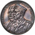 1902 President Theodore Roosevelt and Prussian Prince Heinrich Medal. Silver. 33 mm. 17.9 grams. Abo