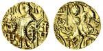 Kidarites, Kirada (c. 350-65), gold Dinar, 7.82g, nimbate king standing left, making offerings at a