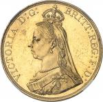 GRANDE-BRETAGNE Victoria (1837-1901). 5 livres (5 pounds), jubilé de la Reine, aspect Flan bruni (PR