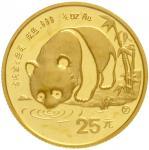 1987年熊猫纪念金币1/4盎司 完未流通