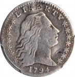 1794 Flowing Hair Half Dime. LM-3. Rarity-4. VF Details--Plugged (PCGS).