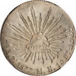 MEXICO. 8 Reales, 1877-Pi MH. San Luis Potosi Mint. NGC MS-64.