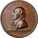 1777 Horatio Gates at Saratoga medal. Betts-557, Julian MI-2. Bronze. Philadelphia Mint. Original di