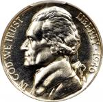 1940 Jefferson Nickel. FS-901. Reverse of 1938. Proof-67 (PCGS). CAC.