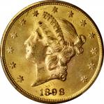 1898-S Liberty Head Double Eagle. MS-64 (PCGS).