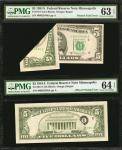 Lot of (2) 1981A $5 Federal Reserve Notes. Fr. 1977-I. Minneapolis. PMG Choice Uncirculated 63 EPQ &