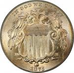 1875 Shield Nickel. MS-66+ (PCGS). CAC.
