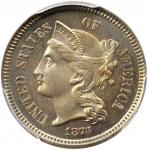 1873 Nickel Three-Cent Piece. Close 3. Proof-66 (PCGS). CAC.