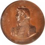 1812 Captain Isaac Hull / USS Constitution vs. HMS Guerriere. Bronze. 65 mm. Julian NA-12. MS-65 BN