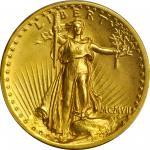 MCMVII (1907) Saint-Gaudens Double Eagle. High Relief. Flat Rim. MS-62 (PCGS).