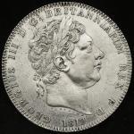 GREAT BRITAIN George III ジョージ3世(1760~1820) Crown 1819LIX   洗浄 VF~EF