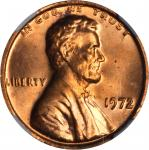 1972 Lincoln Cent. FS-101. Doubled Die Obverse. MS-63 RD (NGC).