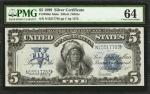 Fr. 280m. 1899 $5 Silver Certificate Mule Note. PMG Choice Uncirculated 64.