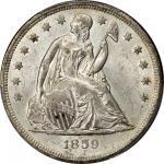 1859-O Liberty Seated Silver Dollar. MS-64 (PCGS).