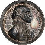 Circa 1858 Sansom medal. Presidency Relinquished. Original dies. Late impression. Musante GW-58, Bak