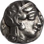 ATTICA. Athens. AR Tetradrachm (17.11 gms), ca. 440-404 B.C.