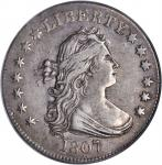 1807 Draped Bust Quarter. B-1. Rarity-2. AU-50 (PCGS).