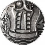 公元8至9世纪缅甸96拉蒂 BURMA. 96 Ratti (2 Pieces), ND (ca. 8th-9th Century). CHOICE VERY FINE.